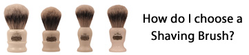 choose a shaving brush