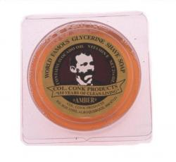 Col Conk Amber Glycerine Shave Soap - small
