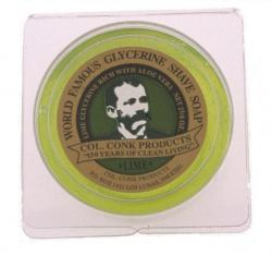Col Conk Lime Glycerine Shave Soap - small