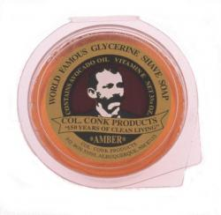 Col Conk Amber Super Bar Glycerine Shave Soap - large