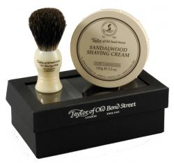 Taylor of Old Bond Street Sandalwood Shaving Cream and Pure Badger Shaving Brush in Gift Box
