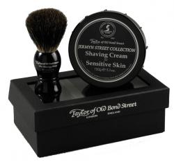 Taylor of Old Bond Street Jermyn St Collection Shaving Cream and Pure Badger Shaving Brush in Gift Box