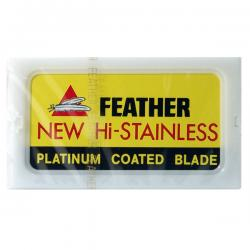 Feather New HI-Stainless Platinum Coated Razor Blades (10 blades)