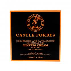 Castle Forbes Cedarwood & Sandalwood Essential Oil Shaving Cream
