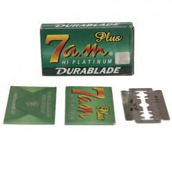 7 AM Hi Platinum Durablade Double Edge Safety Razor Blade - 5 Blades