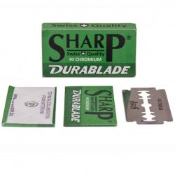 SHARP Hi Chromium Stainless Double Edge Safety Razor Blades - 10 Blades