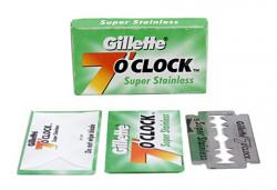 Gillette 7 O'Clock green Super Stainless Double Edge Razor Blade - 5 Blades