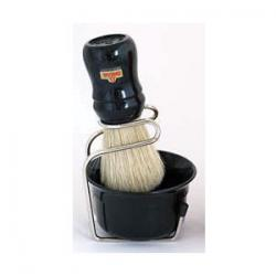 Omega Professional Brush, Stand and Bowl Set - Black