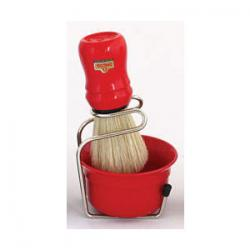 Omega Professional Brush, Stand and Bowl Set - Red