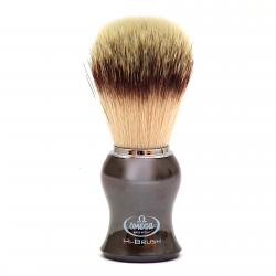 Omega HI-BRUSH Synthetic Fiber Shaving Brush - Chrome Plated Handle