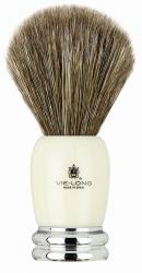 Vie-Long Horse Hair Shaving Brush, Acrylic Handle with Chrome Base