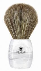 Vie-Long Horse Hair Shaving Brush, White/Clear Acrylic Handle