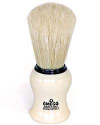 Omega Pure Bristle Shaving Brush - Creme Handle