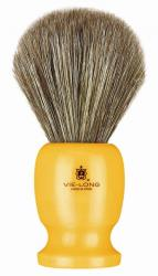 Vie-Long Horse Hair Shaving Brush, Butterscotch Acrylic Handle