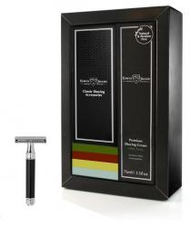 Edwin Jagger Sandalwood Gift Set with Faux Ebony Traditional DE87bl Razor