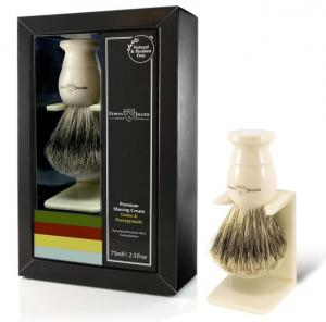 Edwin Jagger Sandalwood Gift Set With A Faux Ivory Brush