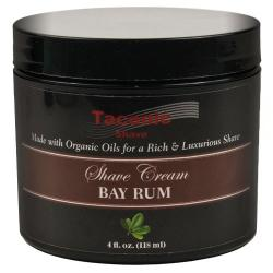 Taconic Shave BAY RUM Shaving Cream with Organic Oils
