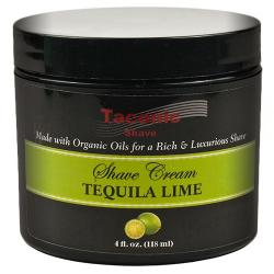 Taconic Shave TEQUILA LIME Shaving Cream with Organic Oils