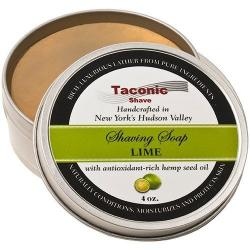 Taconic Shave Lime Handcrafted Shave Soap - Large 4 oz. Puck
