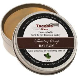 Taconic Shave Bay Rum Handcrafted Shave Soap - Large 4 oz. Puck