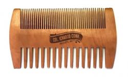 COL CONK WOOD BEARD COMB-FINE & COARSE TOOTH