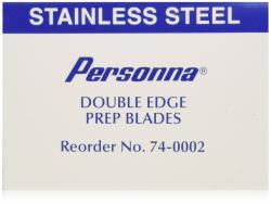 Personna Stainless Steel Double Edge Prep Blade - Blue Wrap 100s